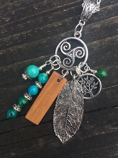 Irish Hawthorn Birthwood Charm Necklace May 13th - June 9th
