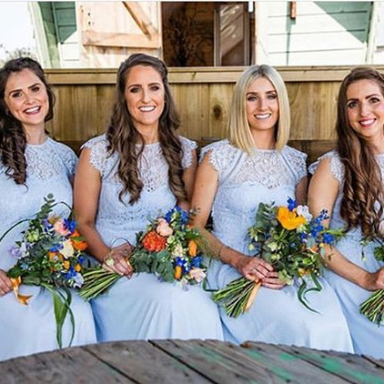 Beautiful Bridesmaids, loved getting the