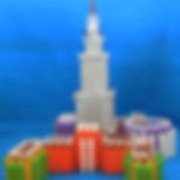 知育ブロック(玩具)インカストロで作るお城