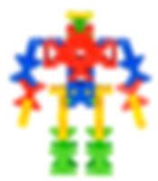 知育ブロック(玩具)インカストロで作るロボット