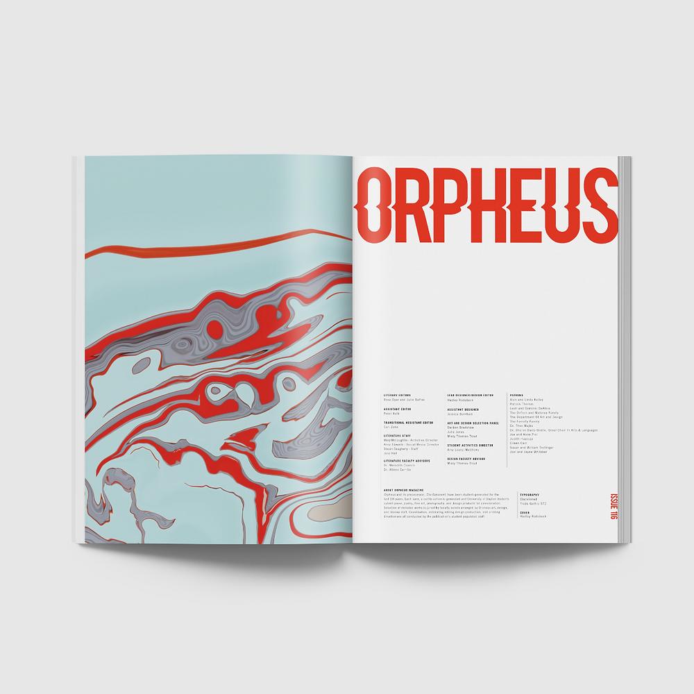 Orpheus Magazine, Spring 2018