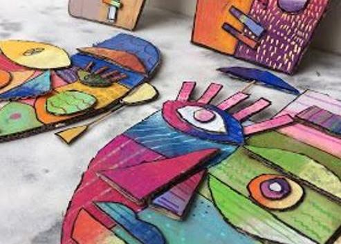 Picasso in karton.