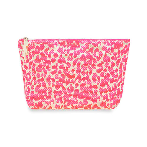 Leopard Print Bag - Neon pink