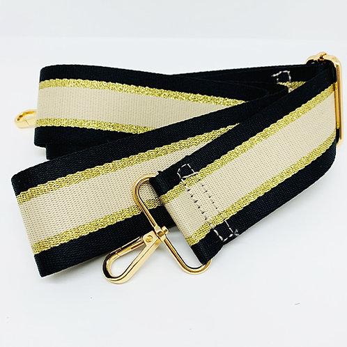 Shoulder Strap - Cream/Gold Stripe