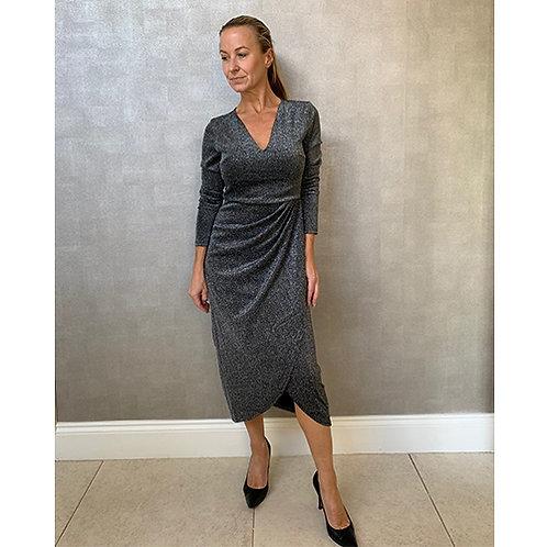 Charcoal Lurex Dress