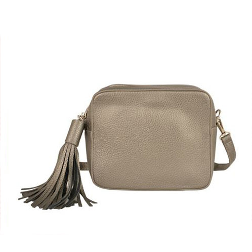 Cross Body Box Bag with Tassel - Gun Metal