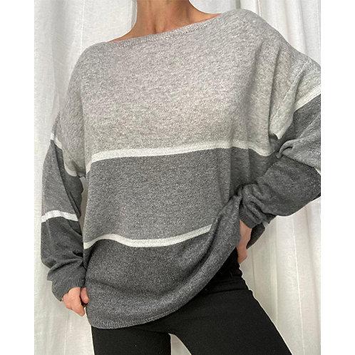 Cashmere Blend Jumper - Grey