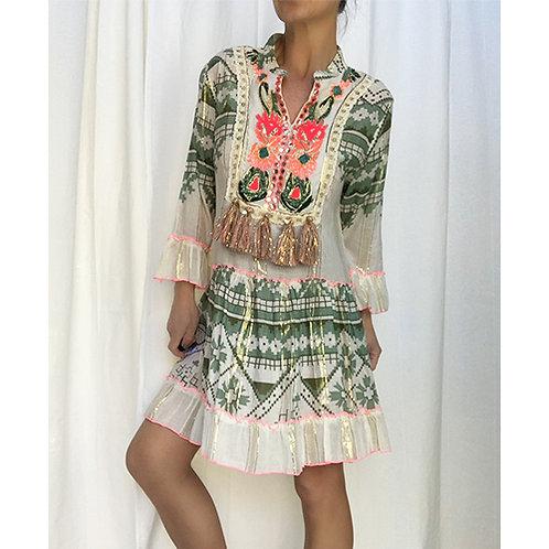 Aztec Tassled Tunic/Dress
