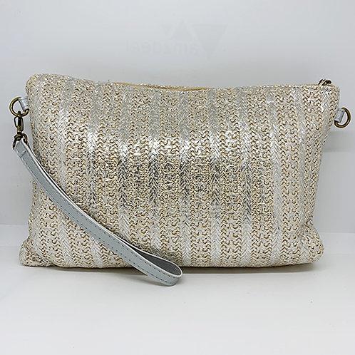 Clutch Bag - Metallic Silver