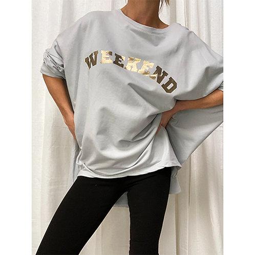 Weekend Zipped Sweatshirt - Silver grey