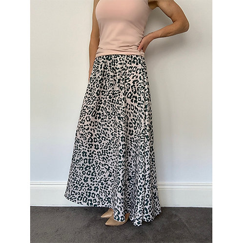 Maxi Skirt - Nude/Khaki Green