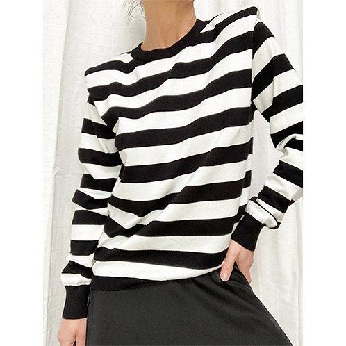Striped Knit - Black/White