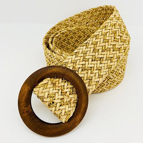 Woven Belt - Natural/Gold