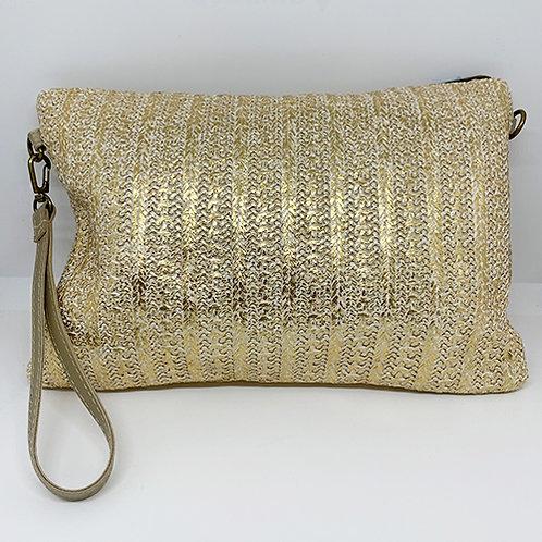 Clutch Bag - Metallic Gold
