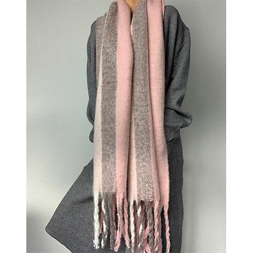 Blanket Scarf - Pink Stripe