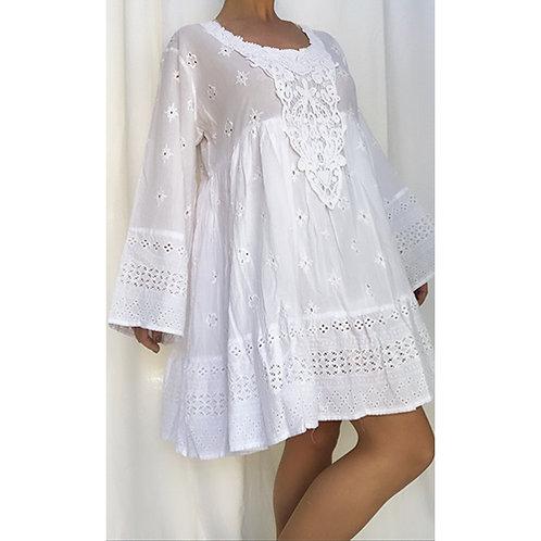 Smock White Dress