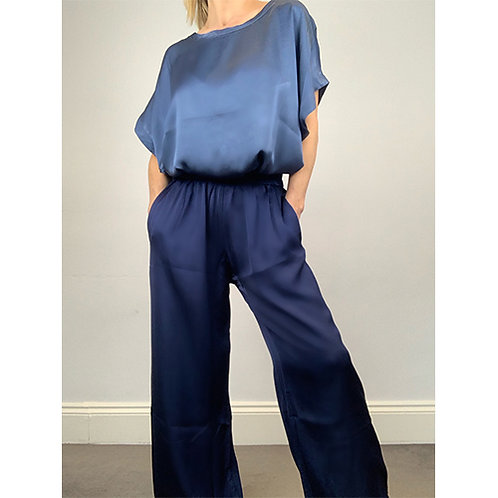 Palazzo Trousers - Navy blue