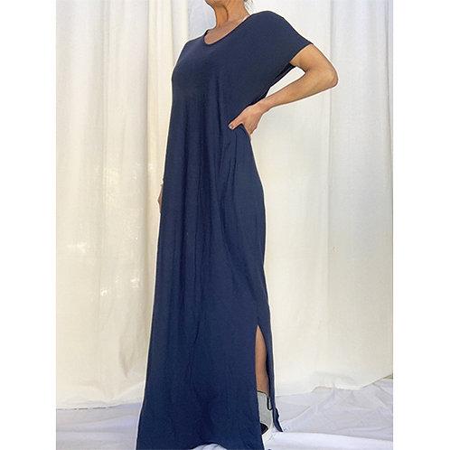 Long T-Shirt Dress - Navy