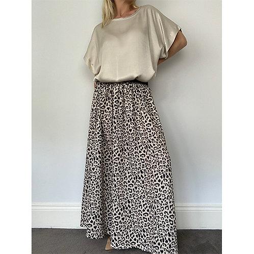 Maxi Skirt - Cream/Black