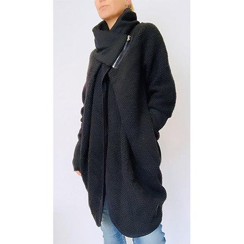 Cocoon Coat - Black