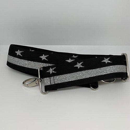 Shoulder Strap  - Black n' Silver