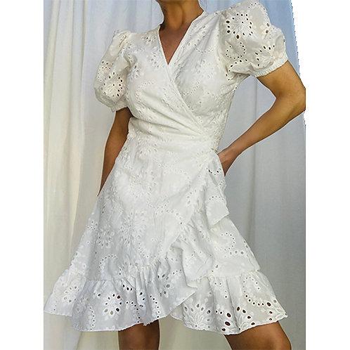 Broderie Wrap Dress