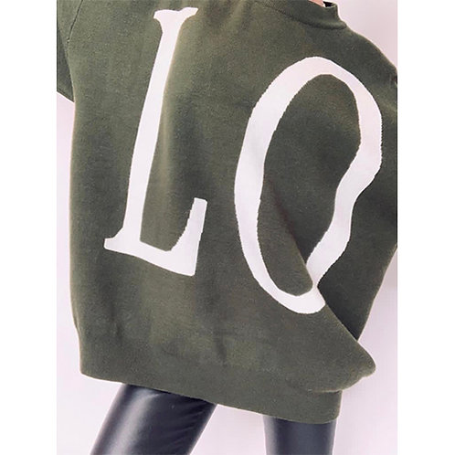 LOVE Jumper - Olive Green