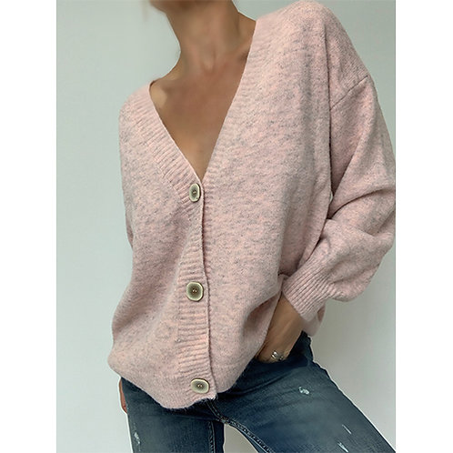 Button Cardigan - Pink