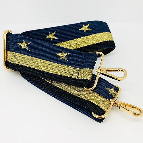 Shoulder Strap - Navy/Gold Stripe