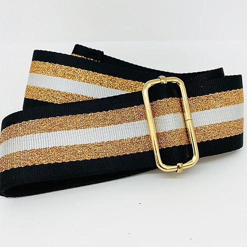 Shoulder Strap - Black/Bronze Stripe
