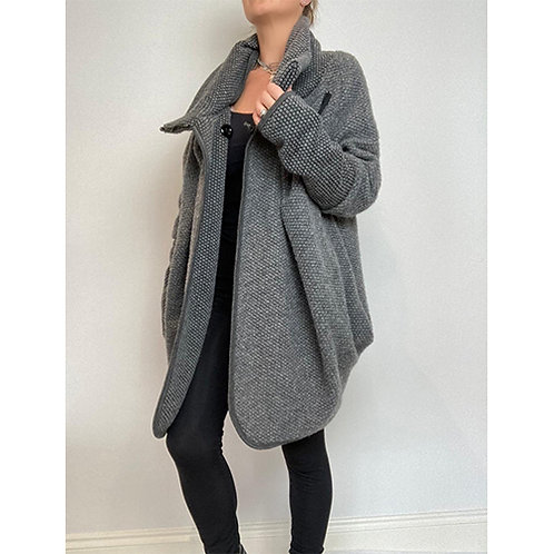 Cocoon Coat - Grey