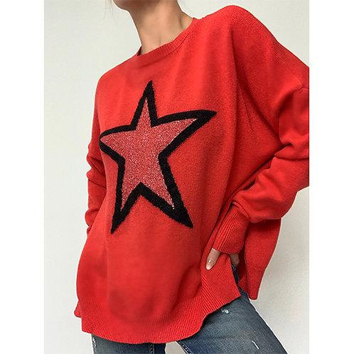 Star Jumper - Red