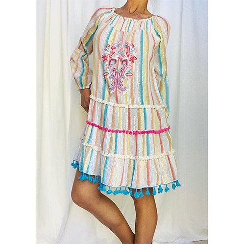 Candy Stripe Mini Dress