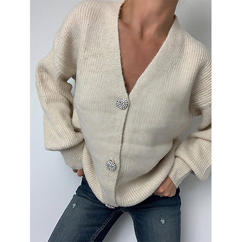 Diamante cardigan - Beige