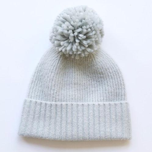 Grey Bobble Hat