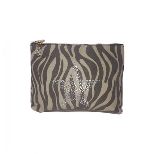 Zebra Zip Bag - Large