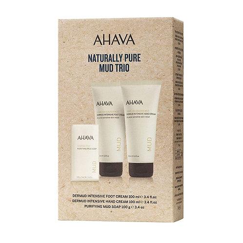 AHAVA Naturally Mud Trio (handcream/footcream + soap)