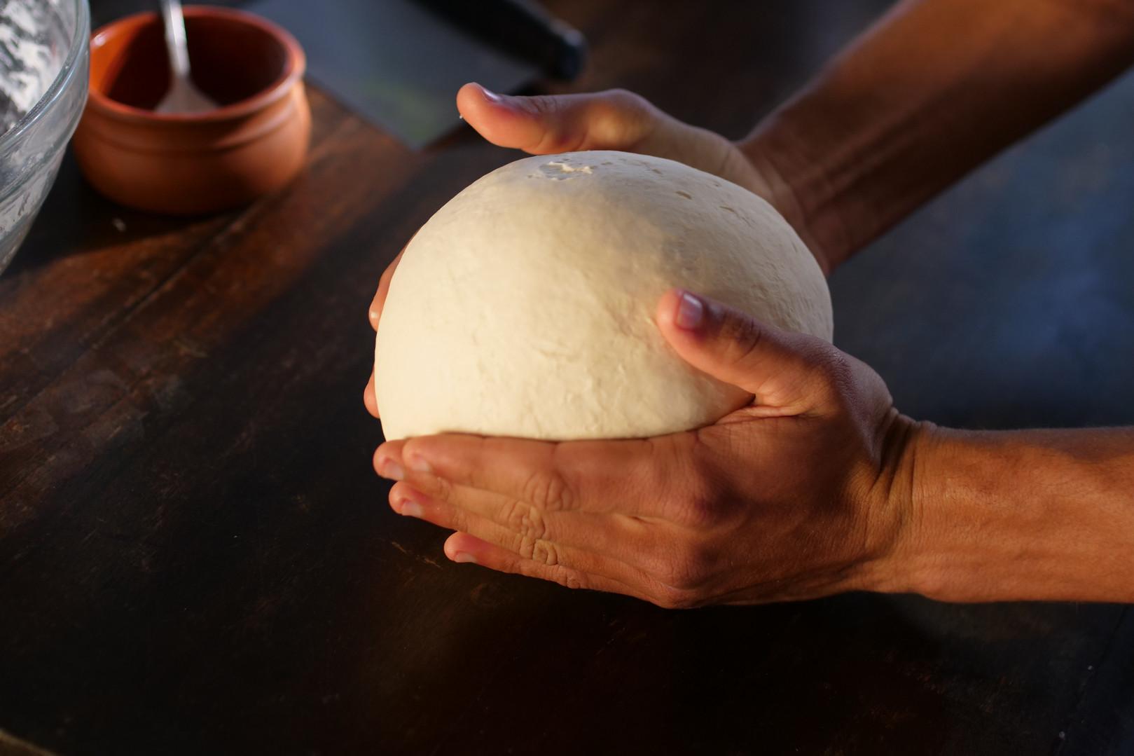 We produce the dough.