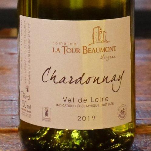 """Val de Loire Blanc 2019 """"Chardonnay"""" Domaine de la Tour Beaumont"""