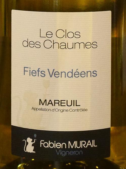 """Mareuil Blanc 2019 """"Le Clos des Chaumes"""" Fabien Murail"""