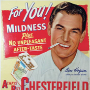 Chesterfield ad featuring Ben Hogan
