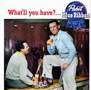 Pabst Blue Ribbon ad featuring Ben Hogan