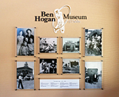 Wall Display in Ben Hogan Museum