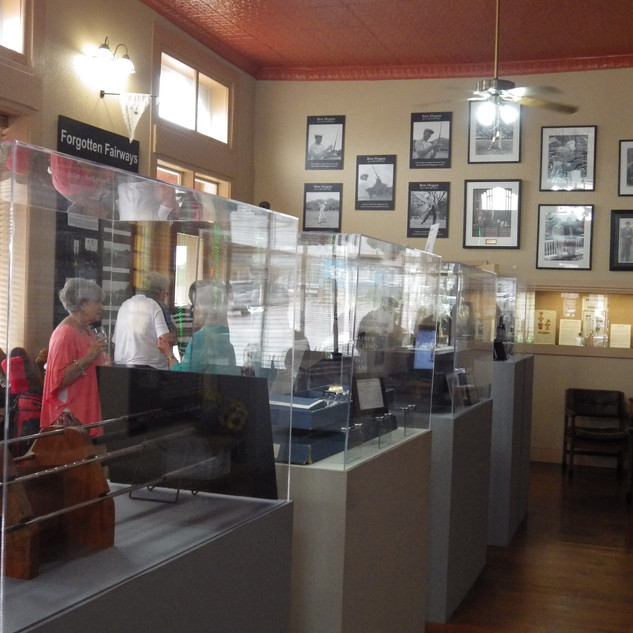 Guests inside the musuem