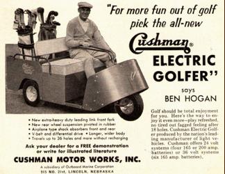 Cushman ad featuring Ben Hogan