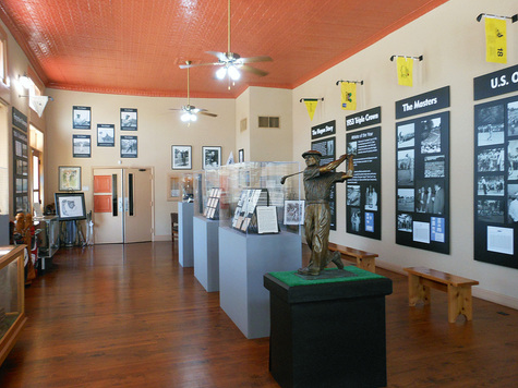 Interior of Ben Hogan Museum