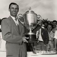 Ben Hogan with trophy