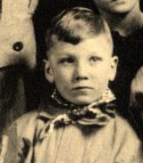 Golfer Ben Hogan as a child