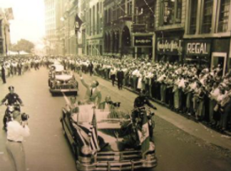Ben Hogan in downtown parade
