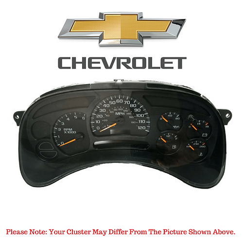 2003-07 Chevrolet ® Instrument Cluster Repair Service